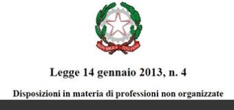 Legge 4/2013