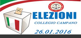 ELEZIONE DIRETTIVO COLLEGIO CAMPANO 26.01.2016
